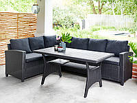 Комплект меблів 6-місний чорний, фото 1