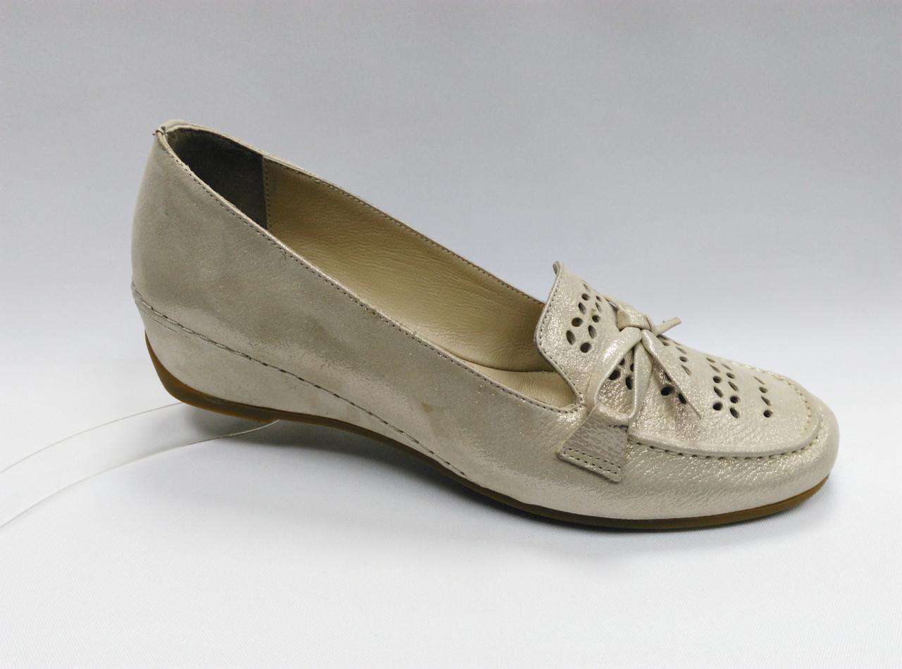 Летние кожаные туфли с перфорацией. Турция. Большие размеры ( 41 - 43 ).