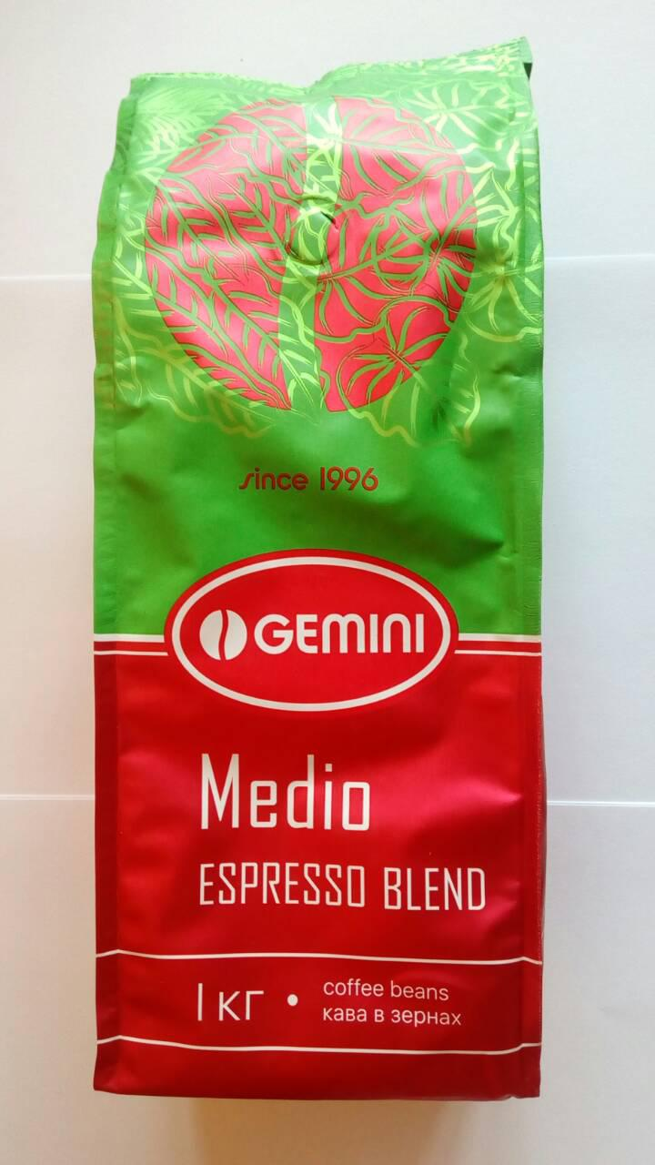 Кофе Gemini Medio Espresso Blend в зернах 1 кг