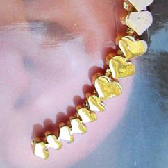 Серьги Каффы под Золото Чистая Любовь