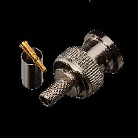 Коннектор GV BNC/M (RG58) crip  (BNC-male crip on for RG58U)(кратно 10шт)