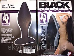 You2Toys Anal Plug Black Velvets Large - очень большая анальная пробка длина 12см диаметр около 4см, фото 2