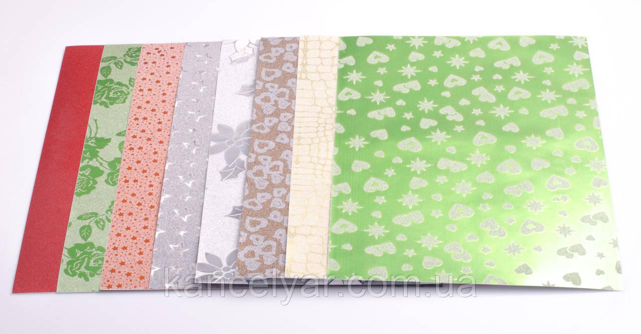 Бумага цветная для поделок: самоклеющаяся, 10 листов, 80 г, А4, в ассортименте