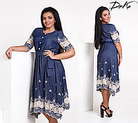 Очень красивое женское платье большого размера (батал), фото 1