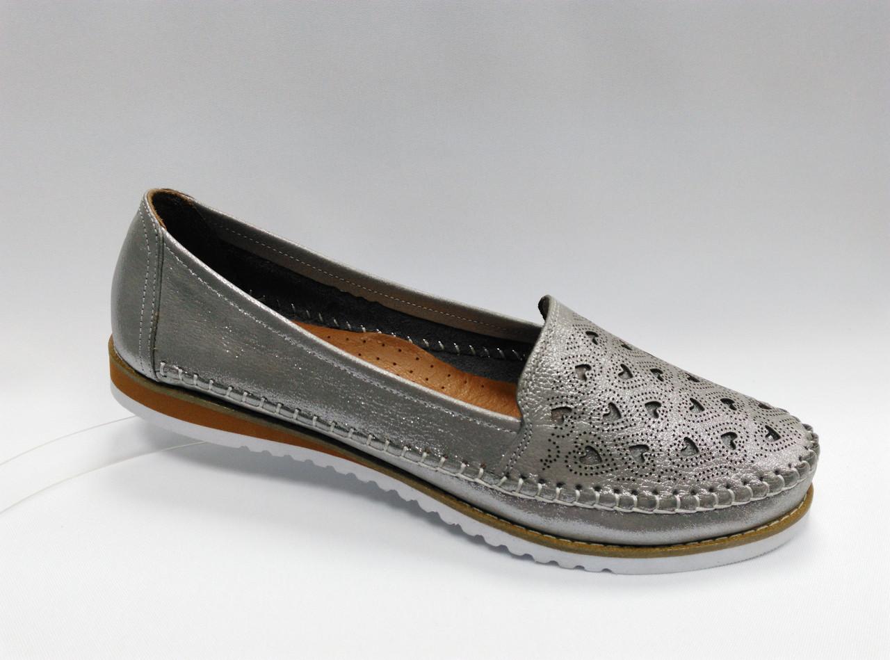 Літні шкіряні туфлі з перфорацією. Туреччина. Великі розміри ( 41 - 43 ).