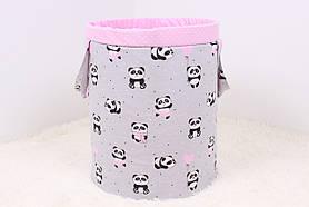 """Корзина для игрушек """"Панды в розовых юбках"""""""
