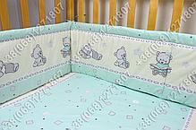 """Детское постельное белье в кроватку """"Карапуз"""" комплект 6 ед. (мишка игрушки салатовый), фото 3"""