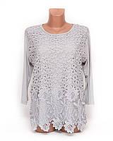 Блуза женская хлопок 3/4 рукав p.52-54 B44-1