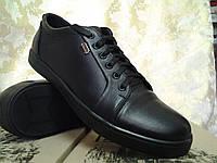 Стильные кожаные кроссовки,кеды Vankristi