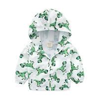 "Детская куртка ветровка 2-4 года ""Дино white 3D"" сетка"