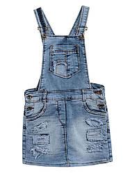 Детский джинсовый сарафан на девочку, р.98-152