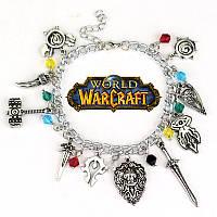 "Браслет с множеством подвесок ""World Of Warcraft"" (Варкрафт), фото 1"