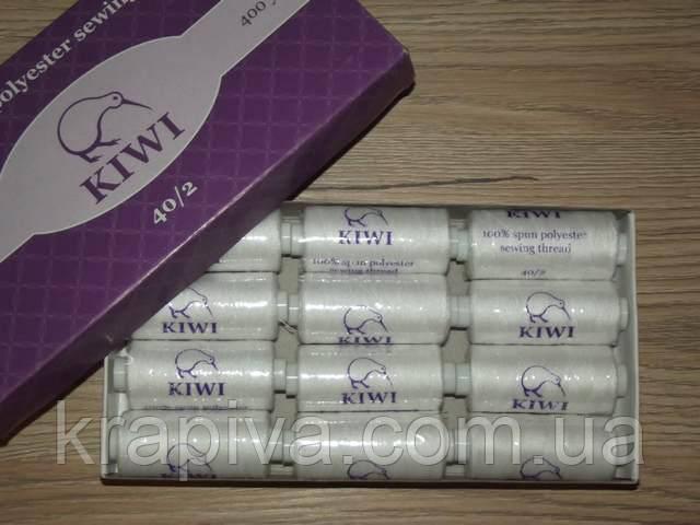 Нитки швейные Kiwi, номер 40, 400 ярдов