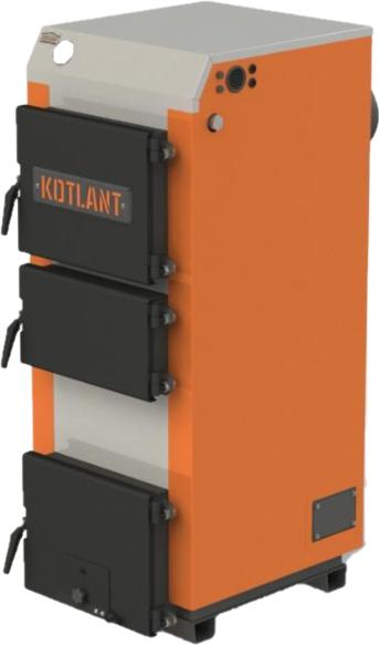 Стальной  котел на твердом топливе длительного горения Kotlant (Котлант) КГ 27