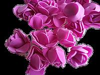 Головка розочки из фоамирана 3,5 см  фиолетовая