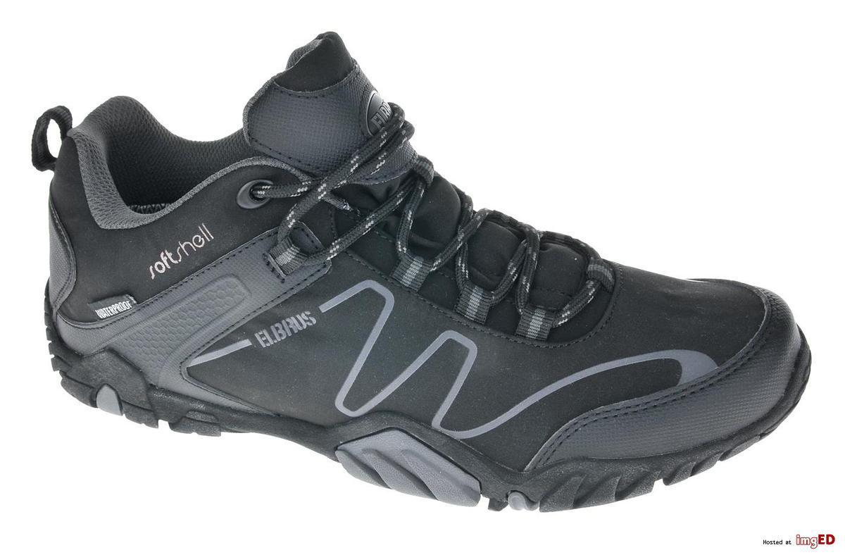 Треккинговые ботинки мужские Elbrus Mens Riley Black/Gray
