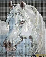 Схема для вышивания бисером - Белогривая лошадка 1шт.