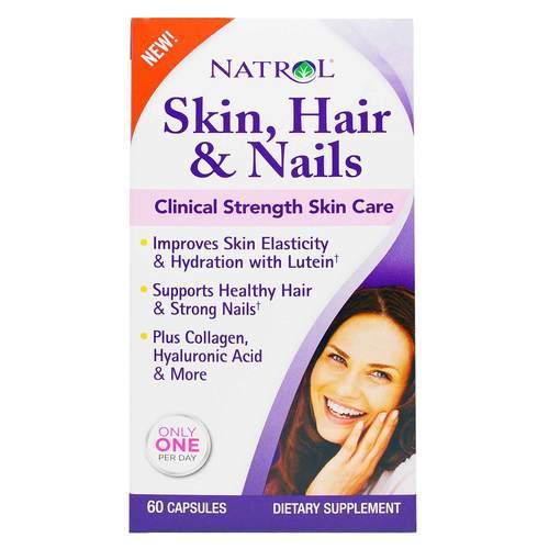 Витамины для волос, кожи и ногтей для женщин, Natrol. Сделано в США.