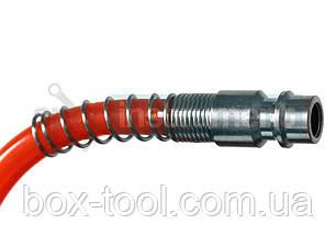 Шланг спиральный с быстроразъемным соединением 15 м HTOOLS 80K174 , фото 2