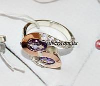 Кольцо с фиолетовыми камнями Вернисаж, фото 1