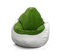 Кресло мешок Гибрид XL, Белый, Зеленый