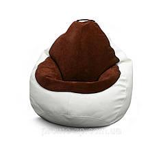 Кресло мешок Гибрид XL, Белый, Коричневый