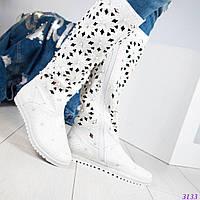 Сапоги женские перфорация белые в Украине. Сравнить цены, купить ... b9798c01285