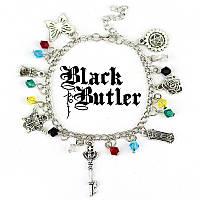 """Браслет с множеством подвесок """"Темный дворецкий"""" (Black Butler Kuroshitsuji) , фото 1"""