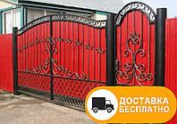 Кованые распашные ворота, код: Р-0165