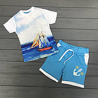 Комплект Футболка и шорты для мальчиков оптом р.1-8 лет