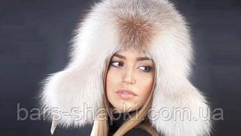 Меховые шапки из песца для женщин
