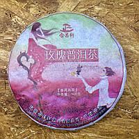 Шу пуэр хорошего качества с натуральной розой 100 грамм