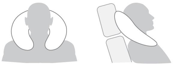 Дорожная подушка-подголовник