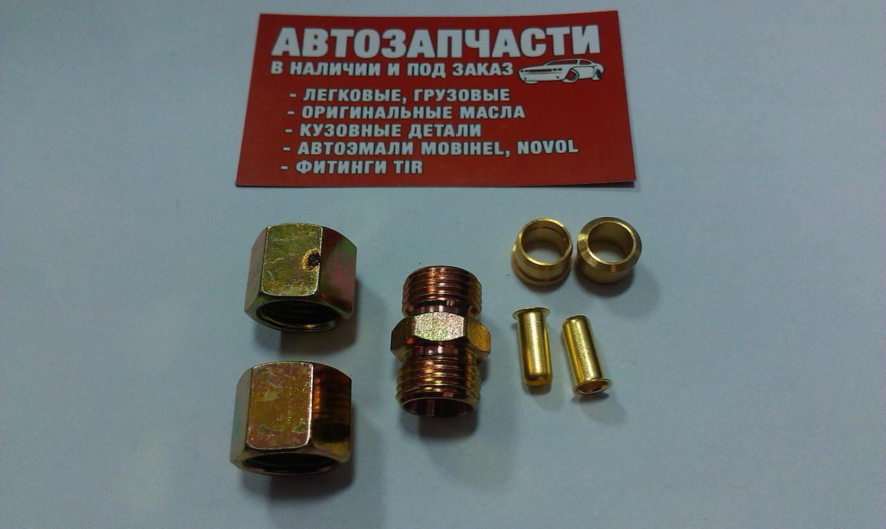 Соединитель резьбовой трубки пластиковой Д9 М16х1.5