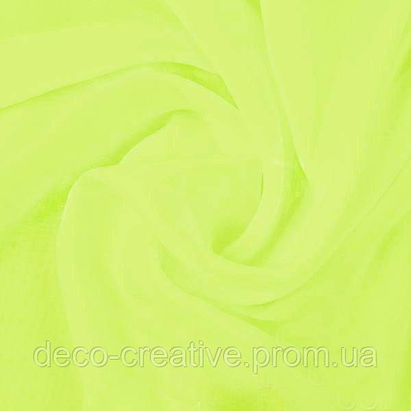 Тюль шифон однотонный, цвет светло салатовый