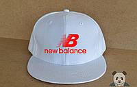 Кепка, cнепбек New Balance , нью беленс, красный  логотип (темно-синий), Реплика