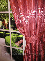 Готовый комплект штор East Legend Бордо Комплект: 2 шторы; Ширина: 145см (каждой шторы); Высота: 250см (базовая, возможна другая высота по желанию покупателя); Код товара на сайте №2430