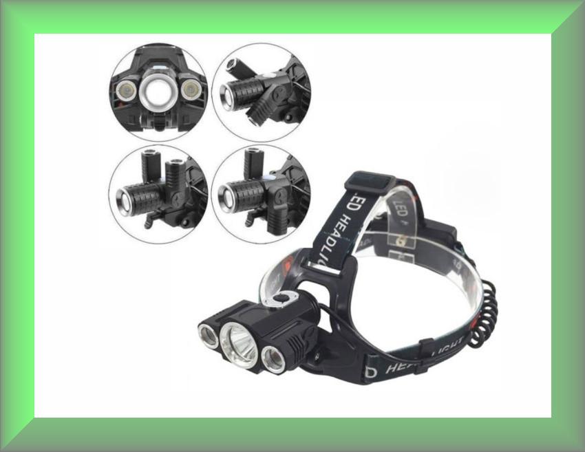 Налобный фонарь SmallSun W602 T6 + велокрепление
