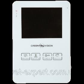 Кольоровий відеодомофон Green Vision GV-051-J-VD4SD white