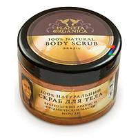 Скраб для тела Бразильский арахис и масло нероли Planeta Organica, 300мл