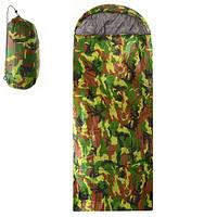 Спальный мешок туристический 210*75 см ( спальник хаки )