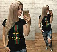 Турция! Стильная женская футболка чёрная S M L