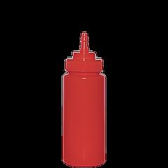 Бутылка для кетчупа 480мл с носиком. красная