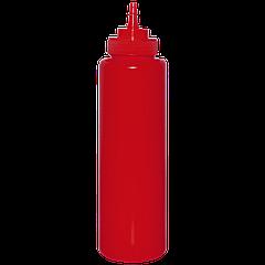 Бутылка для кетчупа 960мл с носиком, красная