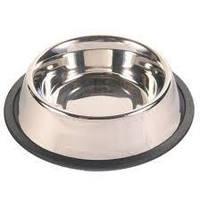 Металлическая миска для собак Trixie Трикси 24854 объем 1,8 л 20 см