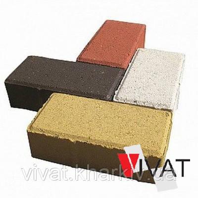 Тротуарная плитка кирпич  40 мм серая цветная