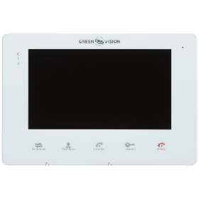 Кольоровий відеодомофон Green Vision GV-053-J-VD7SD white