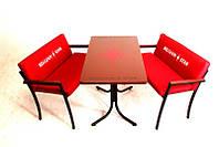 Комплект мебели «Стелла» стол 2 лавки ( Мебель для кафе, садовая мебель, мебель для летних площадок)