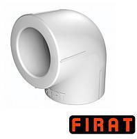 Колено ППР Firat 25х90° Firat белое