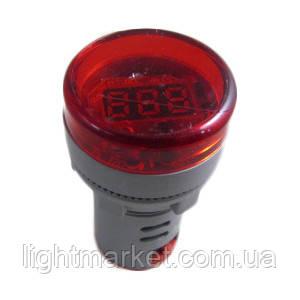Сигнальная арматура с вольтметром Красная, фото 2